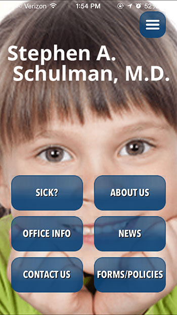 Stephen Schulman Pediatrics Mobile App